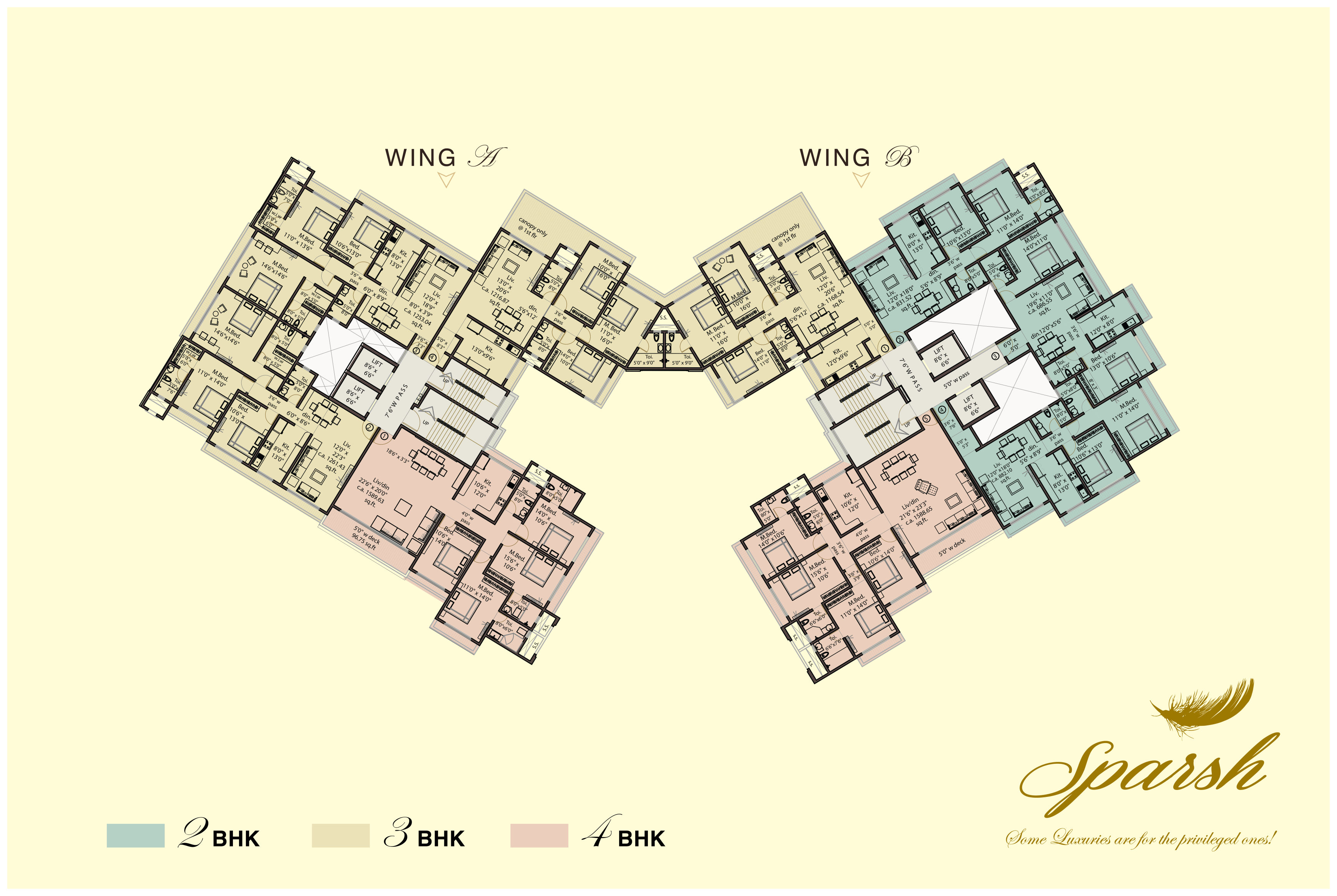 Sparsh floor plan